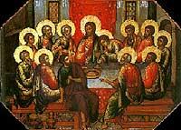 Тайная Вечеря - апостол Иоанн возлежит на груди Господа