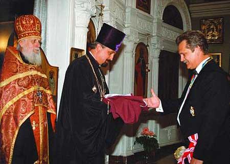 Посвящение Виталия Косовского в масоны Ордена Святого Станислава